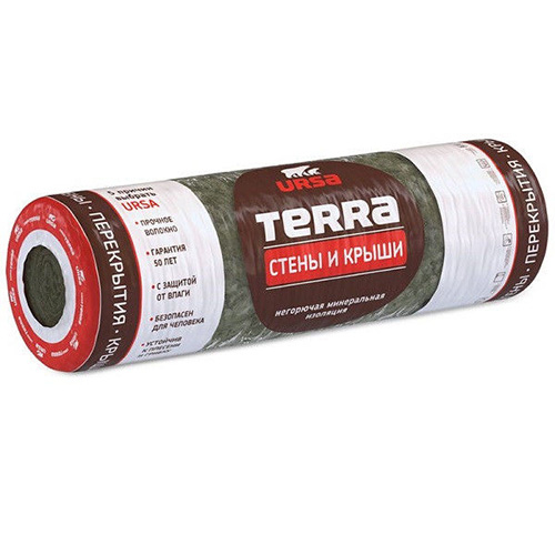 Утеплитель URSA TERRA 37RN Стены и Крыши (6000*1220*100мм) 0,732 м3  5,76м2