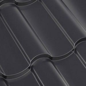 Металлочерепица МП МОНТЕКРИСТО (NormanMР 25 мкм, ПЭ-01-7024 Серый графит-0.5)