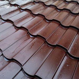 Металлочерепица МП МОНТЕКРИСТО (VikingMP Е-01-8017 Шоколад-0.5)